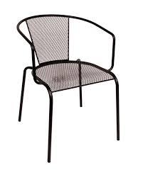 verona indoor outdoor café chair w galvanized steel micro mesh seat and back