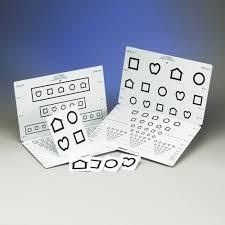 Lea Symbols Eye Chart Printable Lea Symbols 15 Line Folding Distance Chart L Bernell
