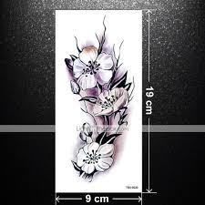 5 шт сексуальные романтические темные розы цветы татуировки рукав