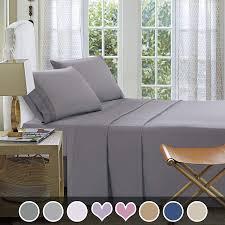 New Bed Sheet Design Sets Loom Mill Microfiber Bedding Sets New Design Extra Soft 1800 Series Bed Sheet Set Deep Pocket Wrinkle Fade Stain Resistant Hypoallergenic