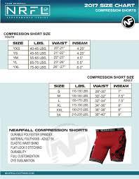 short size compression shorts size chart nearfall clothing