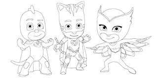Immagine Da Colorare Per Bambini Con 30 Disegni Dei Pj Masks Super