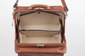 principe vintage tan leather doctor bag top handle handbag w strap for 2