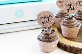 Diy Graduation Cupcake Wrappers And Toppers Myprintly