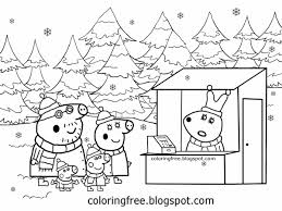 Farm Coloring Pages For Kids Printable With Christmas Farm Coloring