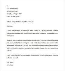 Congratulations Letter On New Job 13 Congratulations Letter For Graduation Statement Letter