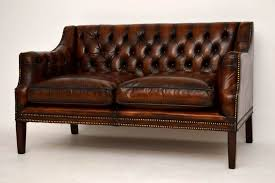 Antique Deep Buttoned Leather Sofa77