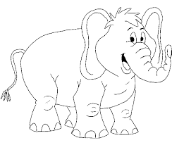 elephant color. Simple Elephant Free African Elephant Coloring Page Throughout Color N