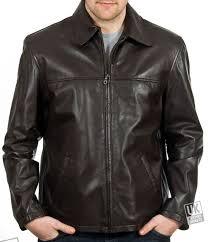 men s brown leather jacket classic harrington