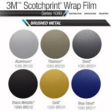 3m Scotchprint 1080 Brushed Metal Vinyl Roof Wrap Kit