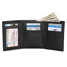 Extra Capacity <b>Trifold</b> Wallet for <b>Men</b> - RFID Blocking <b>Genuine</b> ...