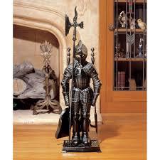com design toscano the black knight fireplace tool ensemble home kitchen