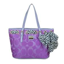 Life Will Be Perfect With Coach Legacy Scarf Medium Purple Totes EAQ! Come  On!