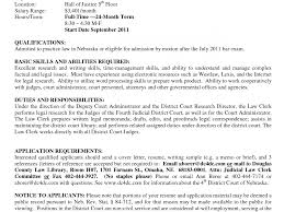 Law Clerk Resume Sample Legal Assistant Samples Federal Records