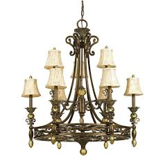 af lighting baltic light aged antique gold chandelier with ivory