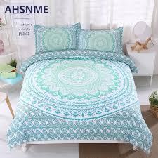ahsnme bohemian bedding set grant color duvet cover soft bohe bed set green mandala quilt cover