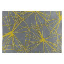 starfl large yellow and grey rug 170 x 240cm