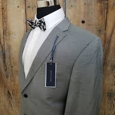 New Tommy Hilfiger Sport Coat Mens 100 Wool Grey Nwt