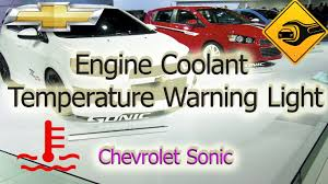 Chevy Sonic Lights On Dash Engine Coolant Temperature Warning Light Chevrolet Sonic