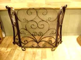 tall fireplace screen screens decorative stained glass fire uk fi