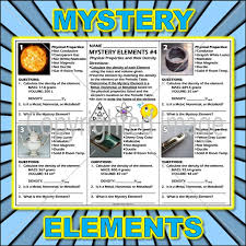 Worksheet: Mystery Elements and Their Density Version 4 | Periodic ...
