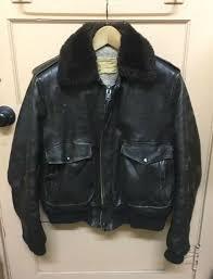 vintage schott i s 674 ms brown leather fur collar flight er a2 jacket sz