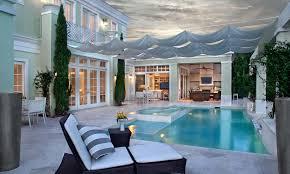 custom palm beach florida home pool and porch
