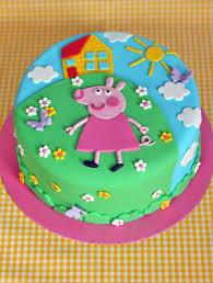 Butter Hearts Sugar Peppa Pig Birthday Cake