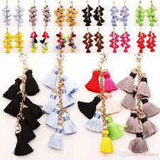 best women s tassel chandelier earrings silky thread fringe statement dangles interchangeable trendy jewelry diy jewelry accessory c192s under 2 52