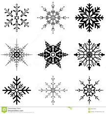Different Designs Of Snowflakes Various Snowflake Designs For Holidays Stock Vector