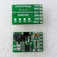 6w 5v ups mobile power diy board charger and step up dc converter module for 3 7v 18650 lithium batt