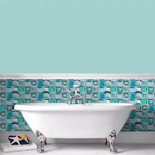 bathroom tiles wallpaper. Contour Blue Glass Brick Bathroom Wallpaper Tiles