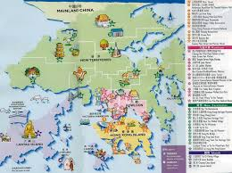 hongkong map map of hongkong china hongkong city tourist map  new