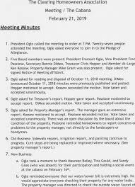Minutes Of The Meeting Meeting Minutes Report The Clearing
