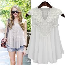 Fashion Plus <b>5XL</b> Size 2017 <b>Summer Women</b> Lace <b>Blouse</b> V Neck ...