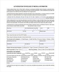 release of medical information template 16 general release of information form templates