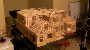 popsicle stick house plan how to build a popsicle house 13 steps