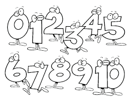 Coloring Numbers 1 10 Coloring Numbers 1 Numbers Coloring Pages 1 10