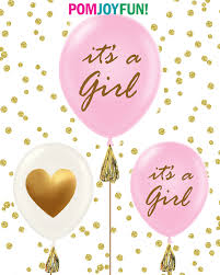 Blue And Gold Baby Shower Decorations Its A Girl Its A Boy Baby Shower Balloons Set Of 3 Gold Baby