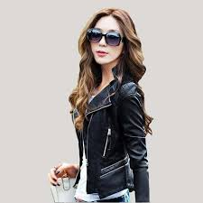 2019 leather jacket women spring 2017 new fashion leather coat women short slim motorcycle leather clothing female outerwear black from zh ch