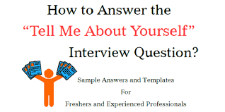 Hr Assistant Interview Questions Tell Me About Yourself Sample Answers For Freshers And