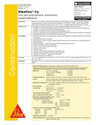 Sikaflex 1a Caulk And Sealant Aluminium Gray Product Data