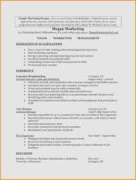 Sales And Marketing Resume Inspirational 23 Inspirational Sample