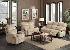 beige reclining sofa. Interesting Reclining Dual Reclining Sofa Set With Loveseat And Free Recliner Sand Beige  Suede Fabric Transitional Style And Beige Reclining Sofa O