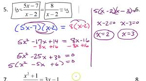 day 8 hw 5 solving rational equations ti 84 extraneous solutions