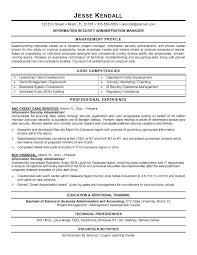 Security Resume Sample Information Security Resume Sample Simple