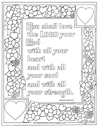 Free Printable Bible Coloring Pages With Verses Fresh Deuteronomy 6