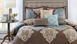 astounding queen and set blue comforter brown king twin navy black target aqua paisley full sets