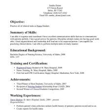 Icu Nurse Resume Skills Sample Eliolera Com
