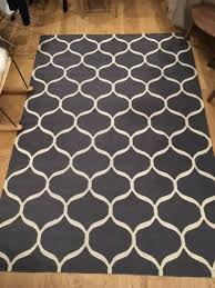 dark grey woven patterned rug large worth 160 ing for 50
